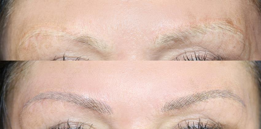 Nieudany makijaż permanentny brwi